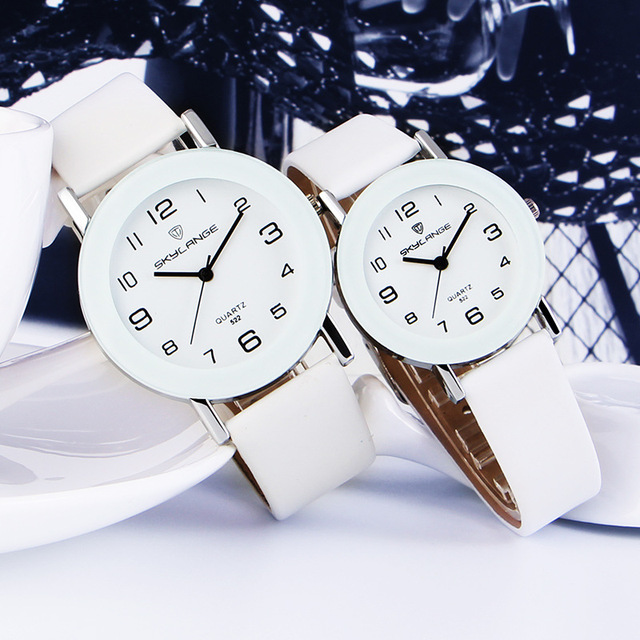 Hot Pointer + Number Simple Large Small Size Dials Ladies Watch Women Watches Th
