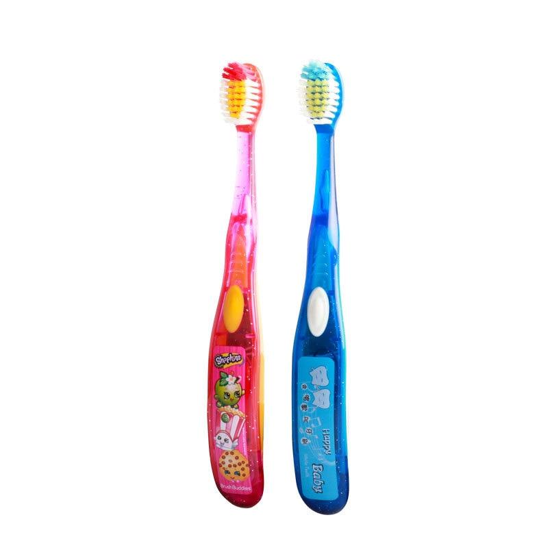 Music Children Toothbrush With Tongue Scraper Cleaner Flashing Kids Toothbrush Battery Tooth Brush 2pcs tongue