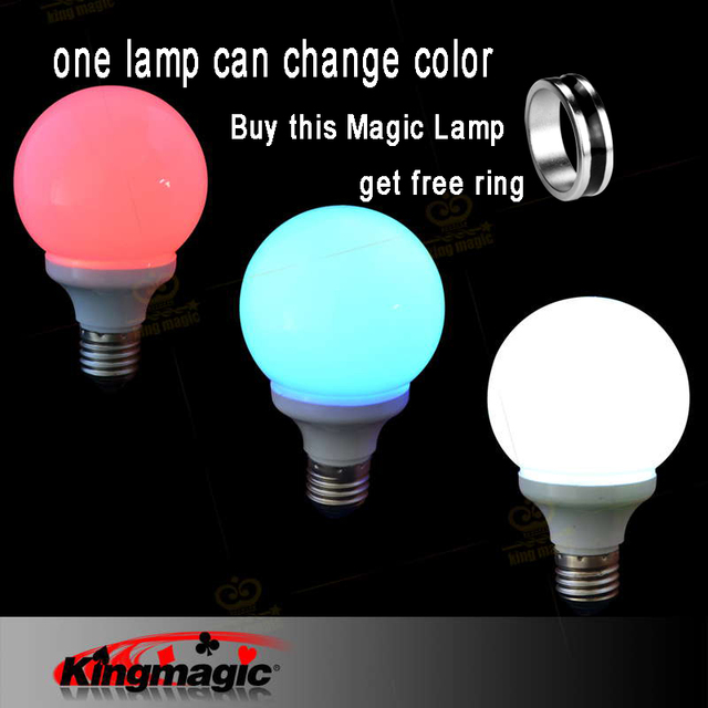 King Magic 1pcs Magic Hot sale Magic illusion Light Bulb The Magic Lamp Tricks colorful Magnet Ring easy to do Magic tricks