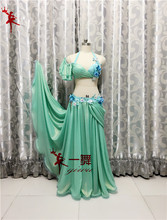 Bellydance oriental Belly Indian gypsy dance dancing costume costumes clothes bra belt chain scarf ring skirt dress set suit 054