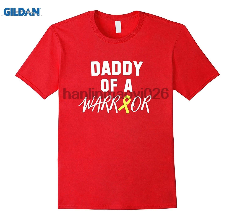 GILDAN Daddy of a Warrior Childhood Cancer Awareness Shirt