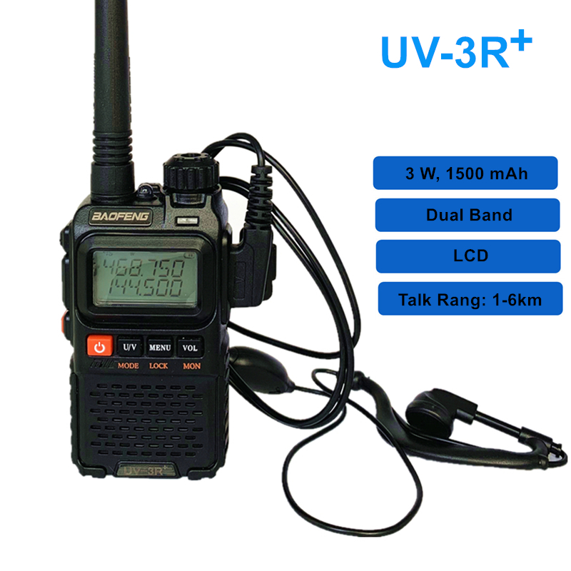 Bofeng MINI Walkie Talkie UV-3R Plus Dual Band LCD Portable CB Radio UV-3R+ Ham Radio Handheld FM Transceiver 3R Two Way Radio