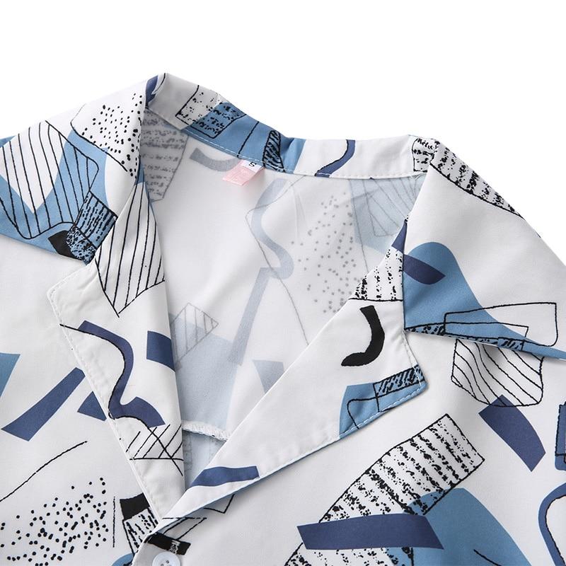 Harajuku Women Blouse and Tops Vintage Printed Korean Short Sleeve Casual blusas female lady shirts