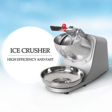 GZZT Electric Ice Crusher Smoothie Maker Ice Shaver Machine Semi-automatic Snow Cone Maker Stainless Steel Shaved Ice Machine