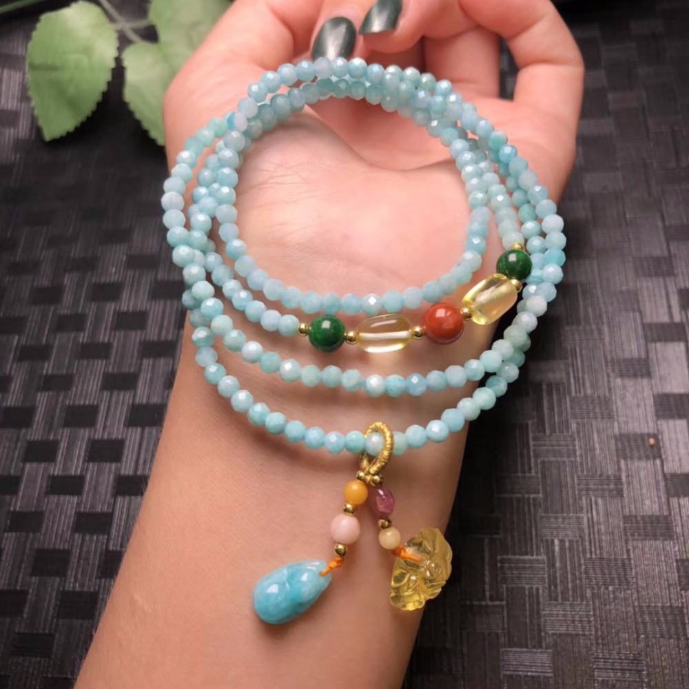 Wholesale Faceted Amazonite Stone with Natural Baltic Blood Amber Pendant Bracelet Women Fashion Jewelry Supplier Wholesale Faceted Amazonite Stone with Natural Baltic Blood Amber Pendant Bracelet Women Fashion Jewelry Supplier