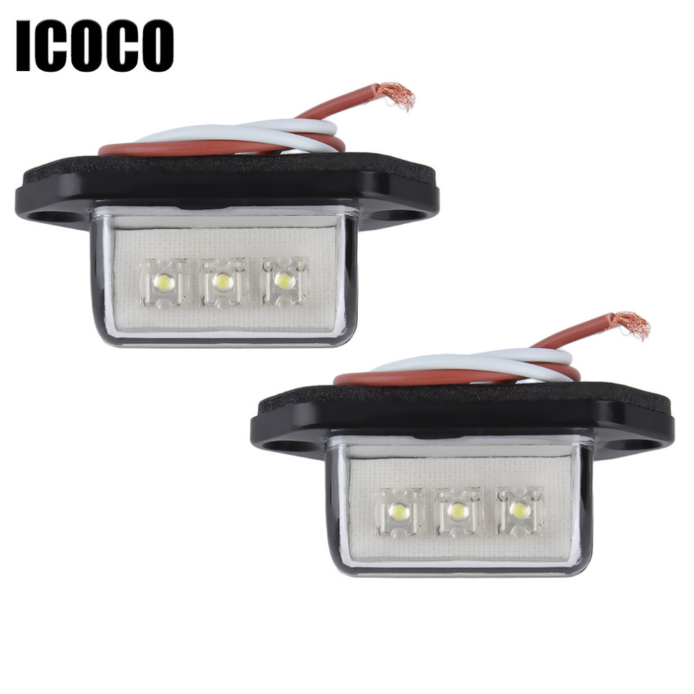 ᗔPromoción grande 2 unids/lote práctico 12/24 V 3 LED número de ...