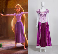 Adult Rapunzel Fancy Dress Cosplay Costume Princess Fairytale Tangled Customized any size