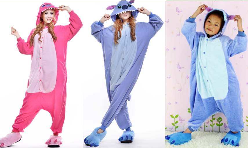 d0d88c948022 Cute LILO And Stitch Cartoon Pajamas Couples Onesies Hoodie Halloween  Costume For Kids And Adult Unisex Anime Cosplay Costome-in Anime Costumes  From .