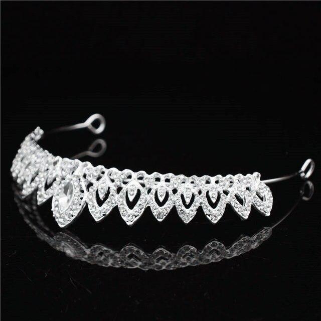 Women's wedding dinner bride crown headdress hair ornaments Jewelry headband flower girl dresses performance head accessories