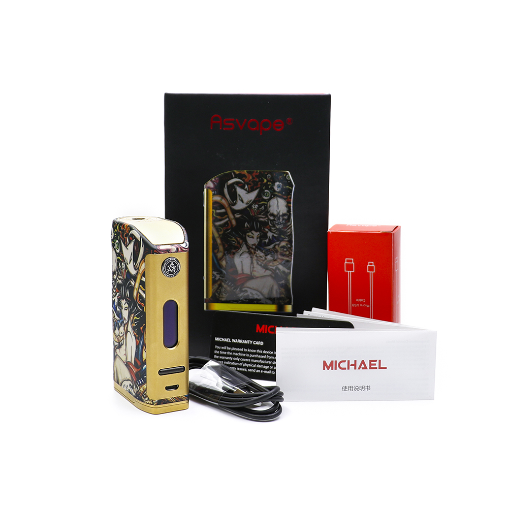 100 original Asvape Michael VO200 TC Mod Devils Night Edition for electronic cigarette tank powered by