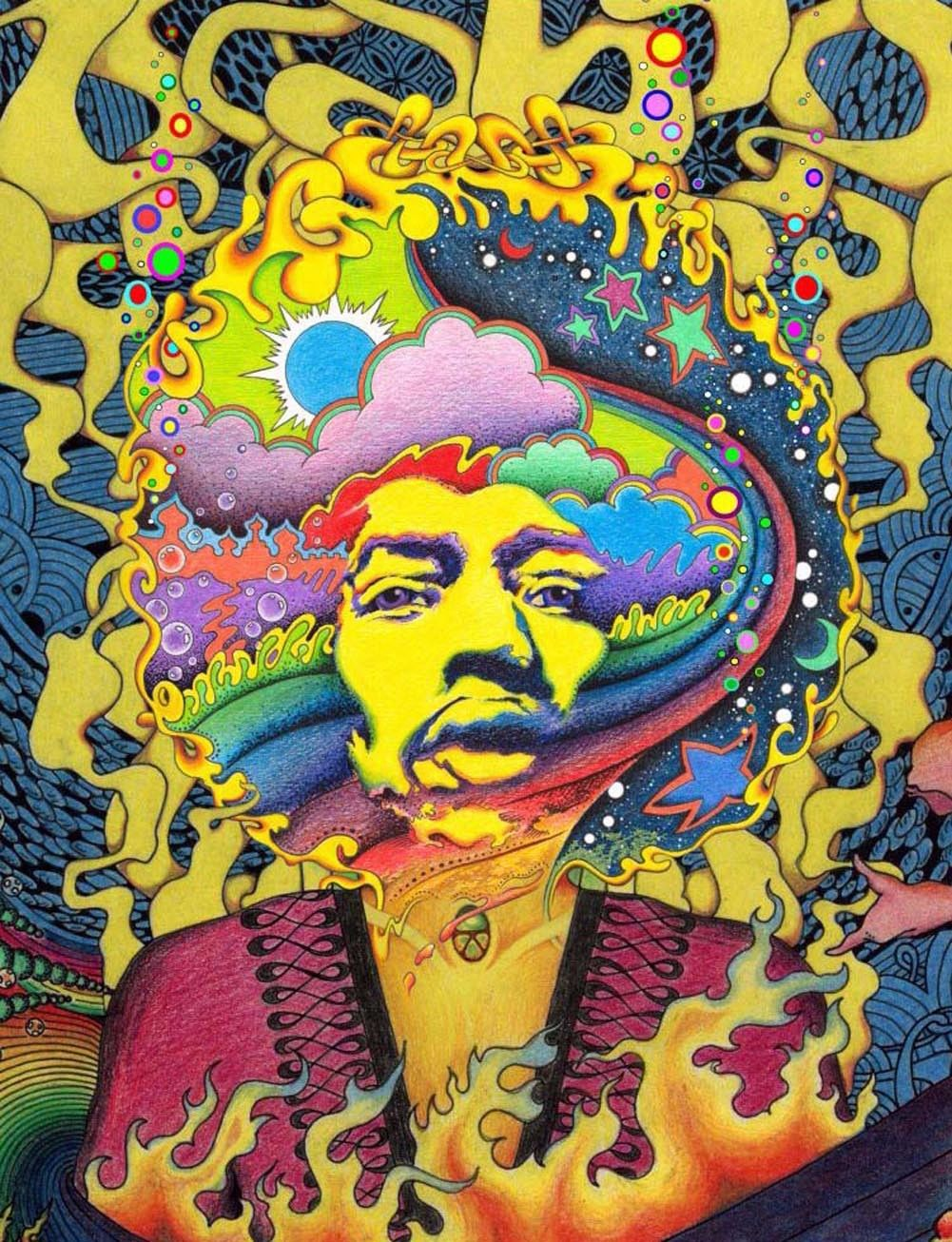 Psychedelic Trippy Art Fabric poster 17\