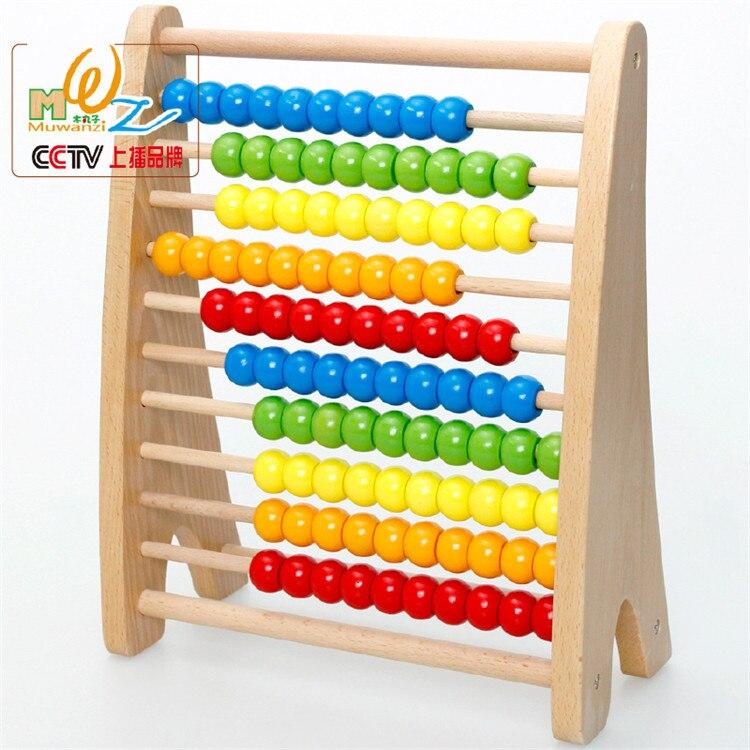 Montessori éducatif en bois boulier 100 perles bébé jouet petite enfance préscolaire formation comptage nombre cadre Maths aide