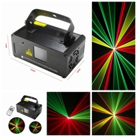 High quality DM RGY200 IR Remote 8 CH DMX 512 Mini Laser Stage Effect Lighting Scanner DJ Party Show Projector Equipment Light