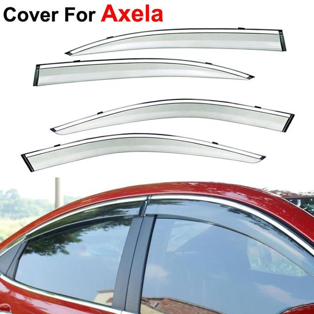 4pcs/lot Window Visors For Mazda 3 Axela 2013 2014 2015 Sun Rain PC Rain Shield Stickers Covers Car Styling Awnings Shelters