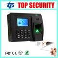 Buena calidad tarjeta de asistencia de tiempo de reconocimiento de huellas dactilares y MF grabadora de TCP/IP USB oficina empleado biométrico tiempo de grabación