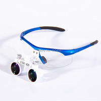 High Quality Blue Plastic Frame Medical Loupes 2.5X Binocular Magnifier Medical Dental Surgical Loupes