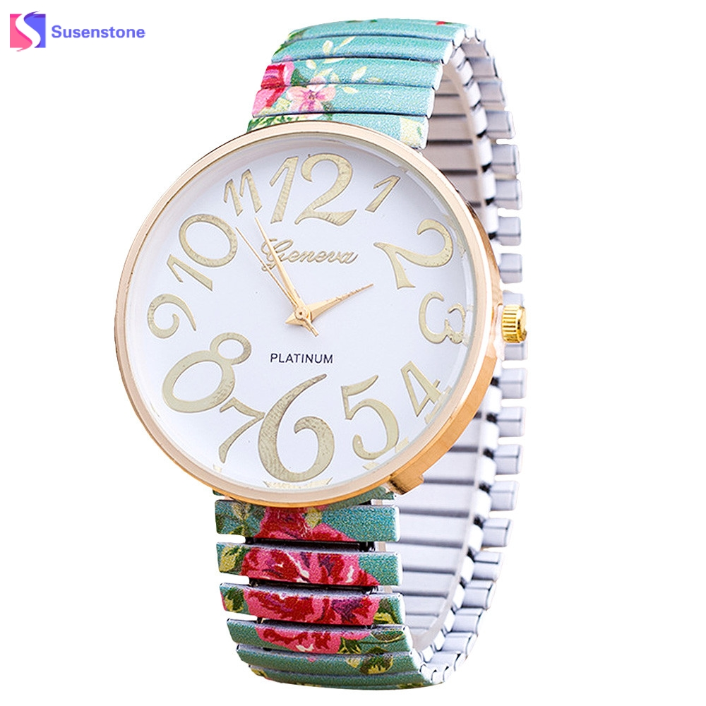 Hot Sale Luxury Women watch Elasticity Flower Shrink Bracelet Quartz Wrist Watch Relogio Feminino Montre Femme купить