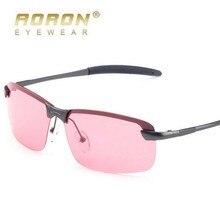 Fashion Brand Night Vision Polarized Sunglasses UV400 Alloy Frame Red film see Fish drift dedicated mirror Glasses