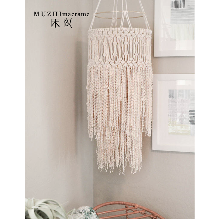 Boho decor hanging ornaments home decoration accessories macrame woven tapestry homes loft decorative chandelier cover lightingBoho decor hanging ornaments home decoration accessories macrame woven tapestry homes loft decorative chandelier cover lighting