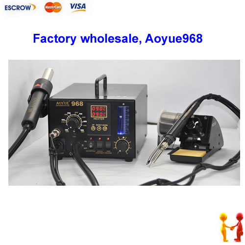 Factory wholesale!! AOYUE 968  soldering station. SMD Hot Air 3 in 1 solder station & Rework machine Aoyue968  цены