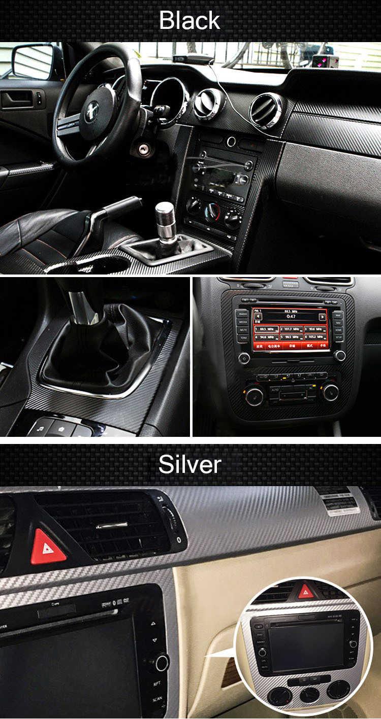 Estilo de coche impermeable etiqueta engomada del coche vinilo 3D de fibra de carbono película de revestimiento para coche 10 opciones de Color DIY Personalización de automóviles parte de la etiqueta engomada