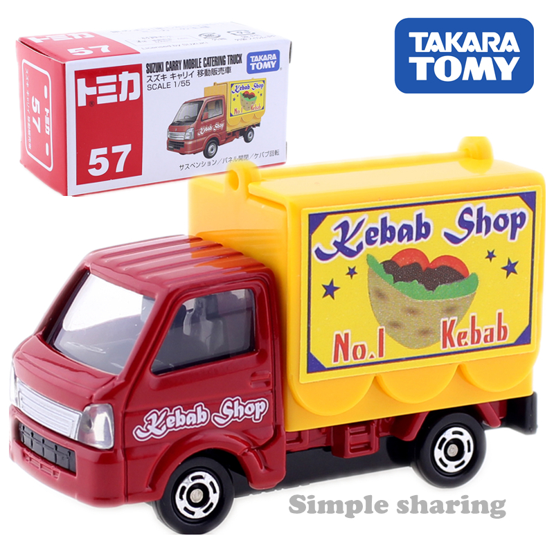 US $7 21 |Tomica NO  57 suzuki carry mobile catering turck kebab shop  Takara Tomy AUTO cars Motors vehicle Diecast metal model new toys-in  Diecasts &