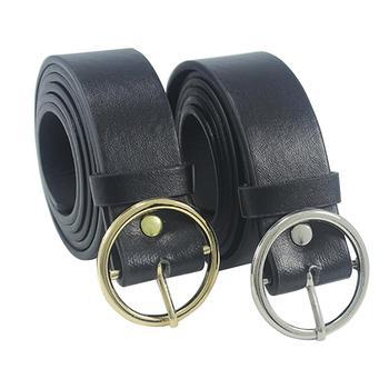 Newest Triangle Round Buckle Belts Female HOT Leisure Jeans Wild Belt Metal Buckle Black Strap Belt For Women Women Accessories