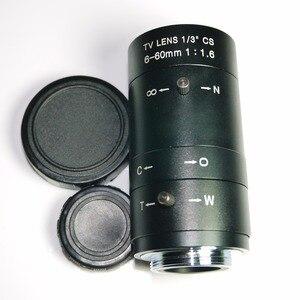 Image 3 - 6 60mm Objektiv MegaPixel 68 8 Grad MTV CS Mount Infrarot Nachtsicht Manuelle Zoom Objektiv Für CCTV Sicherheit Kamera