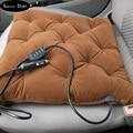 12v carbon fiber heating Car seat covers, winter car seat cushion, heated blending monolithic keep warm seat cushion