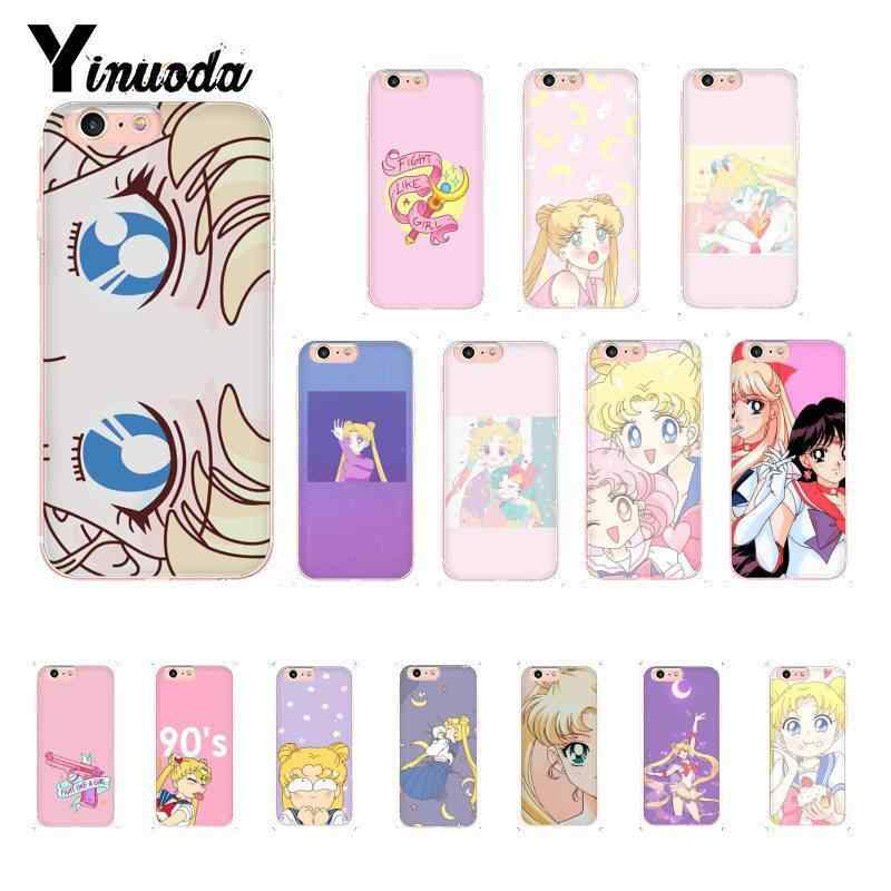 Yinuoda Leuke Sailor Moon Zachte Siliconen Telefoon Case voor iPhone 8 7 6 6S Plus 5 5S SE XR X XS MAX 10 Coque Shell 11 11pro 11promax