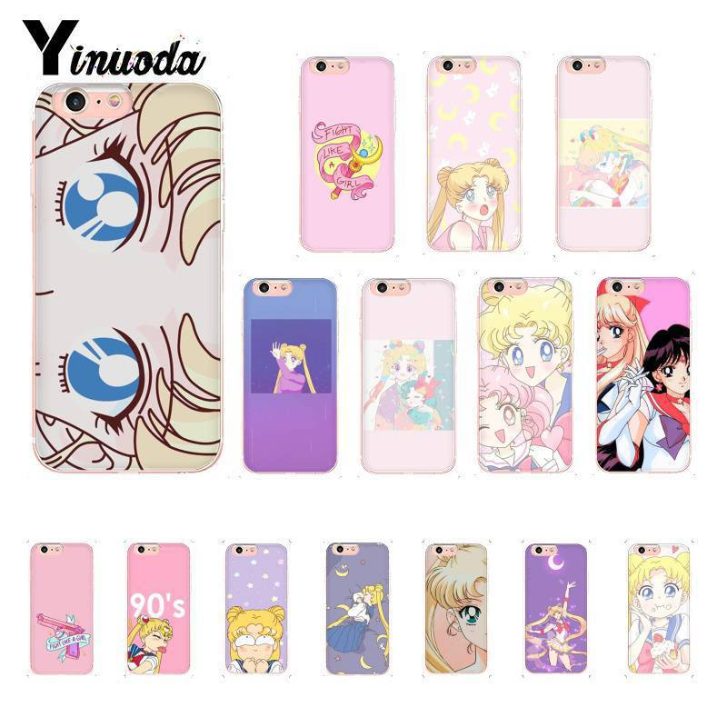 Phone Bags & Cases Yinuoda Cute Sailor Moon Tpu Soft Silicone Phone Case For Iphone 8 7 6 6s Plus 5 5s Se Xr X Xs Max 10 Coque Shell Cellphones & Telecommunications