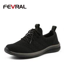 Fevral nova malha masculino sapatos casuais rendas sapatos masculinos leve confortável respirável moda tênis de alta qualidade para homem