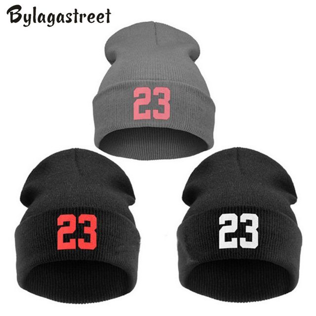 740d0a63f8ed6a 2018 New Fashion Hip Hop 23 Walking Beanie Hats Bonnet for Men and Women  Skullies Casual