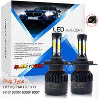 72W 8000LM H7 H4 LED H11 H1 H3 H13 9005 9006 9007 Car LED Headlight COB