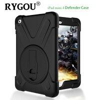 For Apple IPad Mini 4 Case Heavy Duty Rugged Hybrid Three Layer Full Body Protective Defender