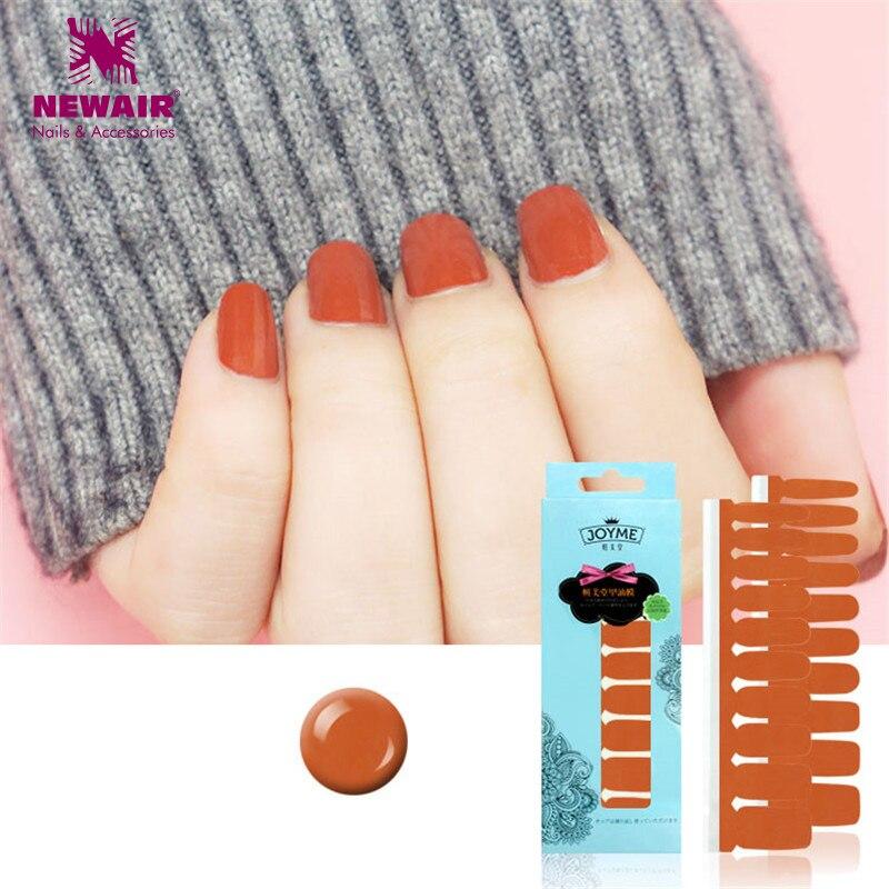 polish nail strips pumpkin color