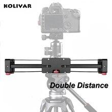 KOLIVAR Pro 500mm Alu Extendable Double Travel Distance Track Dolly Rail DSLR Video Slider for Canon Nikon Sony Camera Camcorder