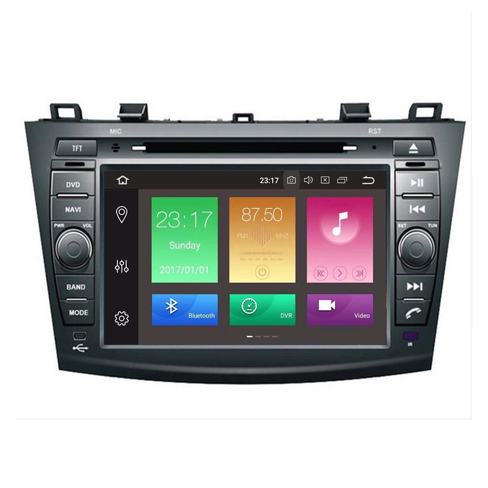android 9.0 8 inch in dash Head Unit double din <font><b>Car</b></font> DVD Player GPS Navigation stereo <font><b>Radio</b></font> CANbus for <font><b>Mazda</b></font> <font><b>3</b></font> <font><b>2010</b></font> 2011 12-2019 image