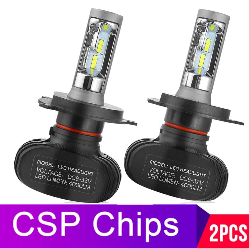 H4 Salut lo Voiture ampoules de phares LED H7 H11 9005 9006 50W 8000LM 6500K CSP LED Auto lampe frontale LED Ampoule D'éclairage 12v 24v