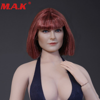 1/6 Scale D 006 Beauty Red Short Hair Headplay for 12 Female PH Jiaodol Action Figure