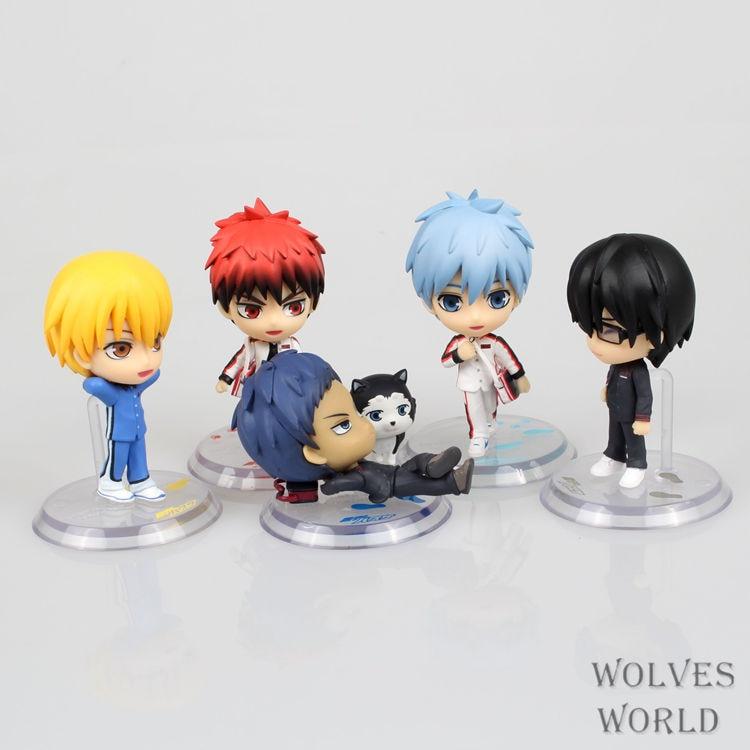 9parts Toys & Hobbies Sets Anime Kurokos Basketball Kuroko Doll Model Garage Kit Pvc Action Figure Classic Collection Variable Action Toy