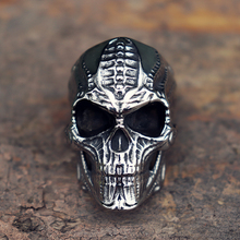 Mens Steampunk Mechanical Skull Stainless Steel Ring Rock Gothic Biker Rings Punk Jewelry