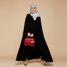 2016 New Arrival Islamic Black Cloak Abayas Muslim Long Dress For Women Malaysia Dubai Turkish Ladies Clothing High Quality Robe