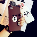 3d cute cartoon bear & rabbit soft silicone case for iPhone 7 funny rubber cover case for iPhone 7 plus 6 6s 5 5s SE girl