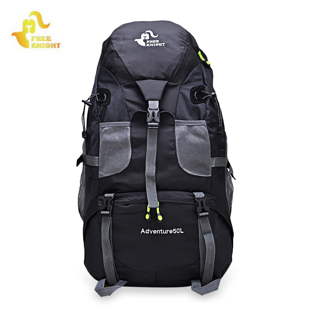 50L Sport Bag Backpack Outdoor Climbing Rucksack Waterproof Mountaineering Hiking Backpacks Molle Camping Bag huwaijianfeng 50l outdoor sport traveling climbing backpack multifunctional hiking bag