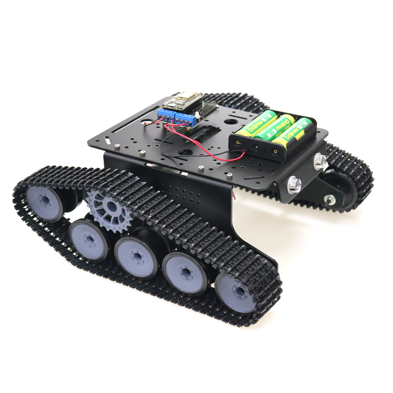DOIT TP300 WiFi Robot réservoir châssis Robot voiture modèle contrôlé par téléphone Mobile Android basé sur le Kit de carte Nodemcu ESP8266