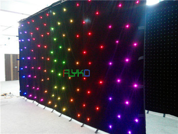 Led rgb escenario luz cortina led estrella cortina 3x6 m envío gratis