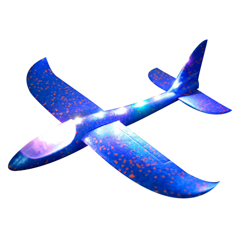 HIINST LED Aircraft Funny Foam Throwing Glider Airplane Inertia Toy Hand Launch Airplane Model Outdoor Aircraft 45# Fastshipping