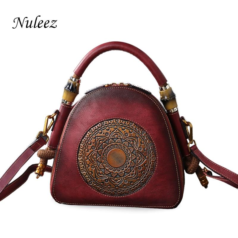 159a52b39867 Nuleez genuine cowhide leather bag women little handbag messenger bag cross  body women bag Chinese vintage