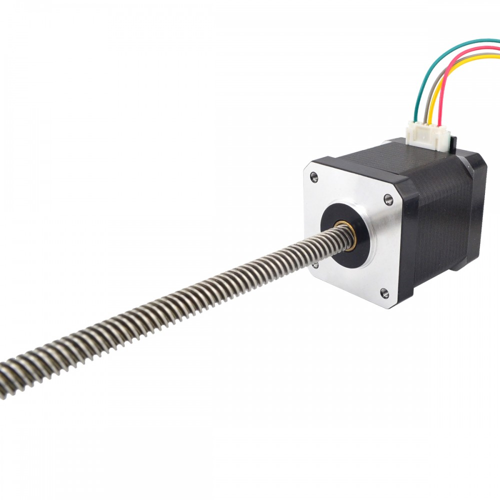 300mm Length Nema 17 Non Captive Linear Stepper Motor 1.68A 4-wire with Tr8x8 Lead Screw for 3D Printer300mm Length Nema 17 Non Captive Linear Stepper Motor 1.68A 4-wire with Tr8x8 Lead Screw for 3D Printer